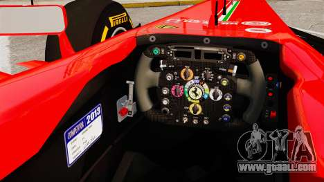 Ferrari F138 2013 v2 for GTA 4 inner view