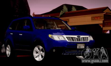 Subaru Forester XT 2008 v2.0 for GTA San Andreas side view