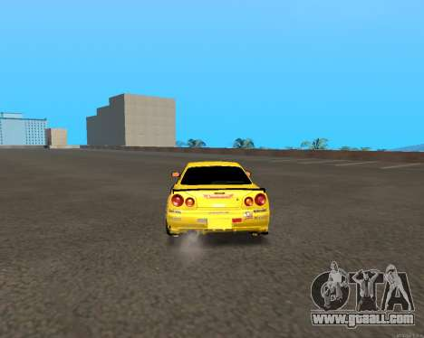 Nissan Skyline R34 Azusa Mera for GTA San Andreas right view