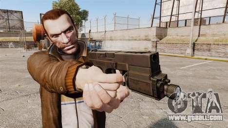 Tactical pistol Glock 18 v1 for GTA 4 third screenshot
