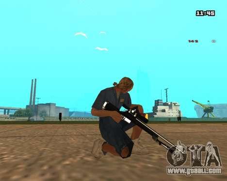White Chrome Sniper Rifle for GTA San Andreas