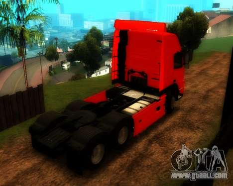 Volvo FM Globetrotter XL 6x4 for GTA San Andreas back left view