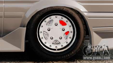 Toyota Corolla GT-S AE86 Trueno for GTA 4 back view