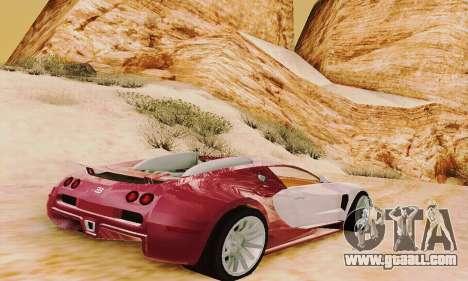 Bugatti Veyron 16.4 Concept for GTA San Andreas right view