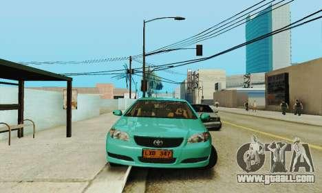 Toyota Corolla City Mastercab for GTA San Andreas back view