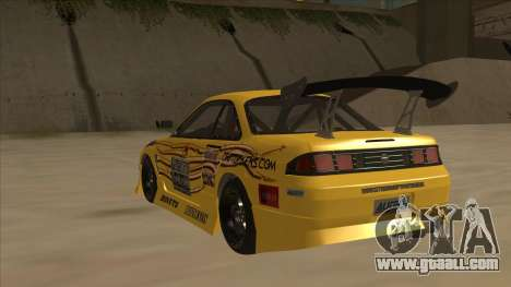 Nissan S14.5 for GTA San Andreas back view