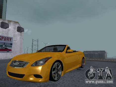 Infiniti G37 S Cabriolet for GTA San Andreas back view