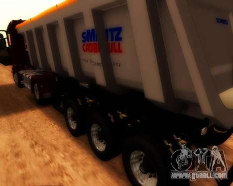 Trailer Schmitz Cargo Bull for GTA San Andreas back left view