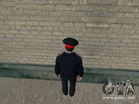 The Captain Of The RUSSIAN MINISTRY Of The INTER for GTA San Andreas