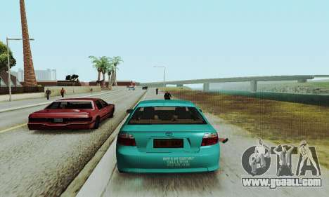 Toyota Corolla City Mastercab for GTA San Andreas right view