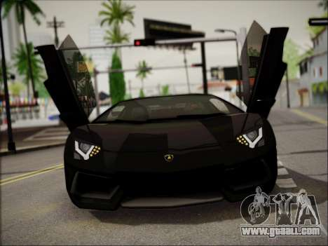 Lamborghini Aventador LP700 for GTA San Andreas back view