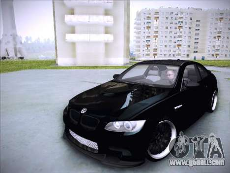 BMW M3 E92 Hamann 2012 for GTA San Andreas back view