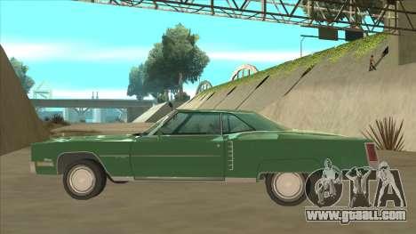 Cadillac Eldorado for GTA San Andreas back left view