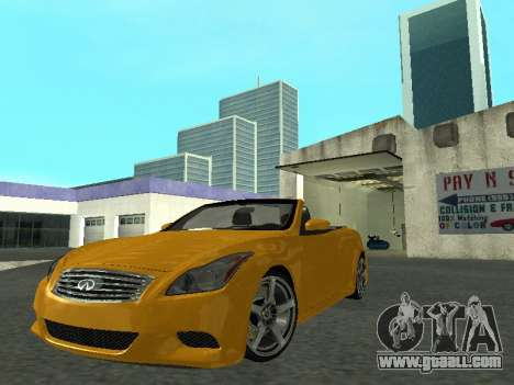 Infiniti G37 S Cabriolet for GTA San Andreas back left view