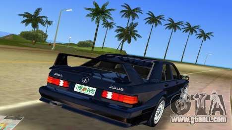 Mercedes-Benz 190E 1990 for GTA Vice City back view