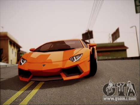 Lamborghini Aventador LP700 for GTA San Andreas upper view