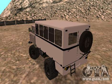 GAZ 66 Watch for GTA San Andreas back left view