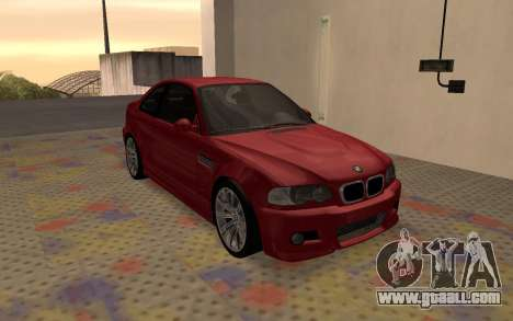 BMW M3 E46 2005 Body Damage for GTA San Andreas left view