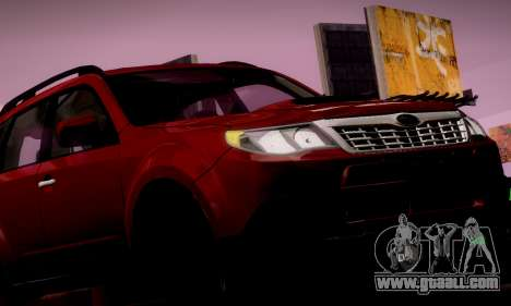 Subaru Forester XT 2008 v2.0 for GTA San Andreas engine