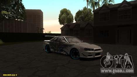 Nissan Skyline GTR 34 CIAY for GTA San Andreas