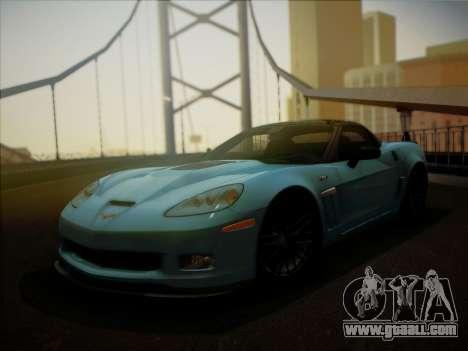 Chevrolet Corvette ZR1 2010 for GTA San Andreas