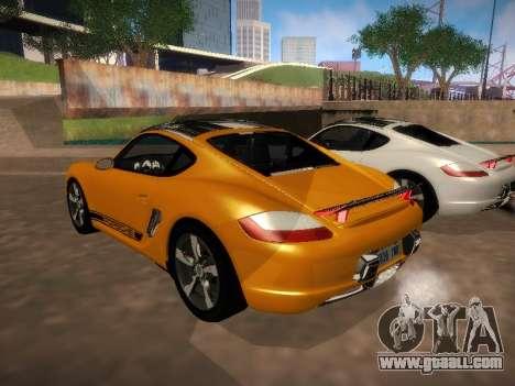 Porsche Cayman R 2007 for GTA San Andreas right view