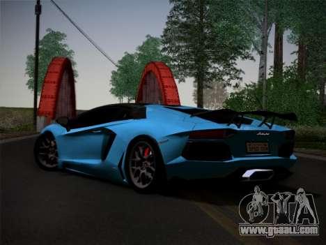 Lamborghini Aventador LP760-2 for GTA San Andreas back view