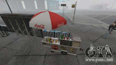 The upgraded kiosks and hot dogovye carts for GTA 4 seventh screenshot