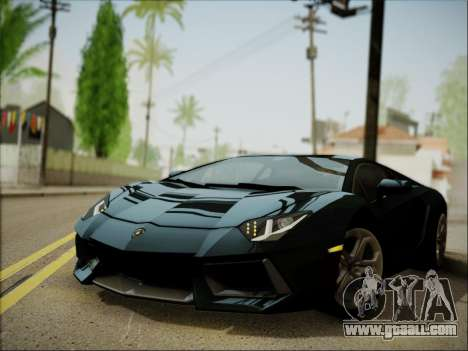 Lamborghini Aventador LP700 for GTA San Andreas left view