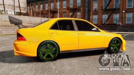 Lexus IS 300 for GTA 4 left view