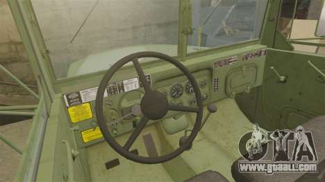 Basic military truck AM General M35A2 1950 for GTA 4 upper view