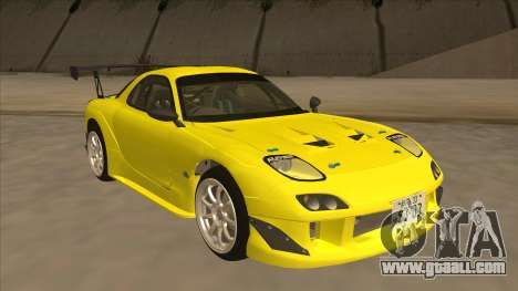 Mazda RX7 FD3S RE Amemyia Touge Style for GTA San Andreas left view
