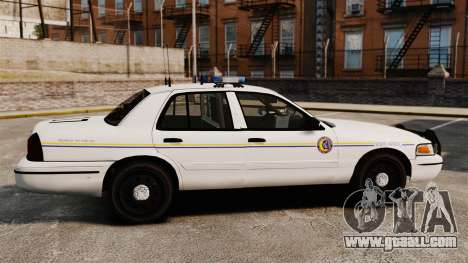 Ford Crown Victoria Police GTA V Textures ELS for GTA 4 left view