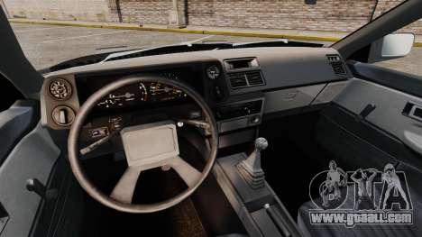 Toyota Corolla GT-S AE86 Trueno for GTA 4 inner view
