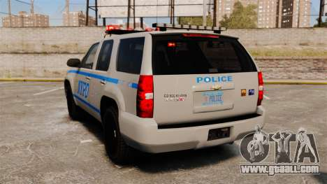 Chevrolet Tahoe 2007 NYPD [ELS] for GTA 4 back left view