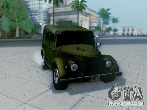 UAZ-69A for GTA San Andreas back left view