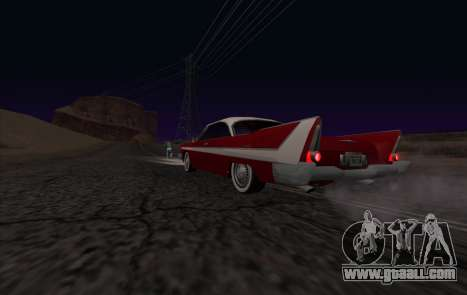 Plymouth Fury for GTA San Andreas back view