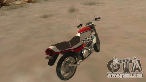 Honda CBX400F for GTA San Andreas back left view