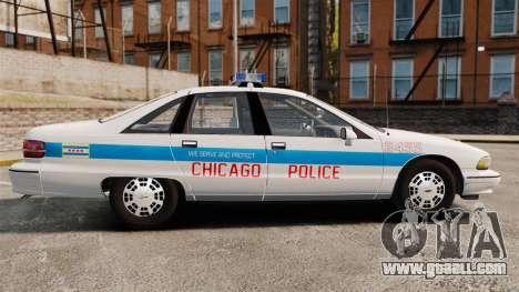 Chevrolet Caprice 1991 [ELS] v1 for GTA 4 left view