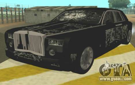 Rolls-Royce Phantom for GTA San Andreas inner view