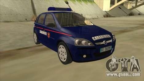Opel Corsa 2005 Carabinieri for GTA San Andreas left view