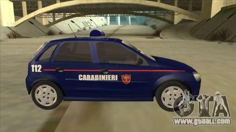 Opel Corsa 2005 Carabinieri for GTA San Andreas back left view
