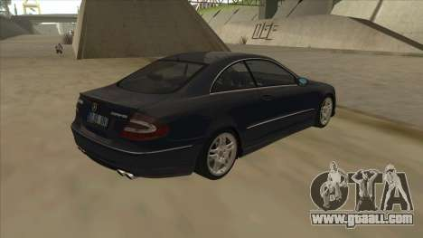 Mercedes-Benz CLK55 AMG 2003 for GTA San Andreas back left view