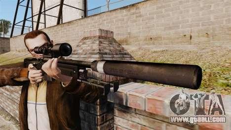 AW L115A1 sniper rifle with a silencer v4 for GTA 4 third screenshot