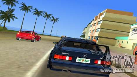 Mercedes-Benz 190E 1990 for GTA Vice City right view