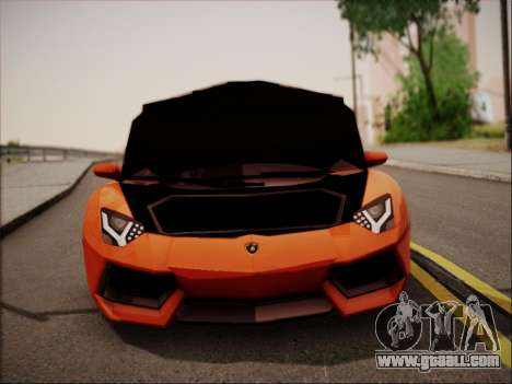 Lamborghini Aventador LP700 for GTA San Andreas bottom view