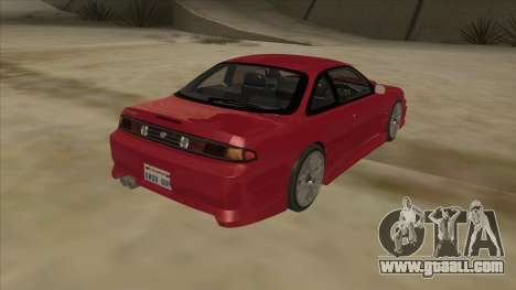 Nissan Silvia S14 RB26DETT Black Revel for GTA San Andreas back view
