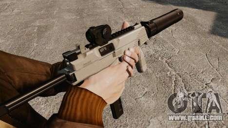 Tactical MP9 submachine gun v3 for GTA 4 second screenshot
