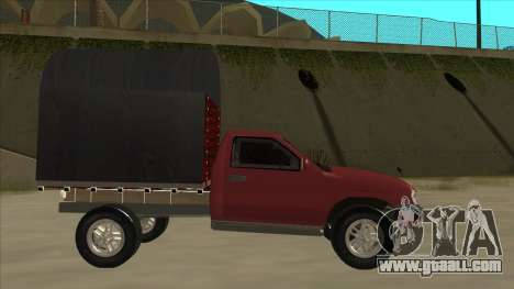 Chevrolet Luv 2.500 diesel for GTA San Andreas back left view