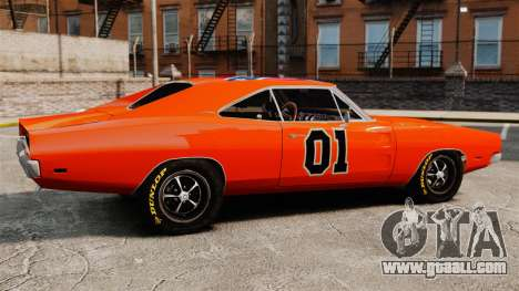 Dodge Charger General Lee 1969 for GTA 4 left view